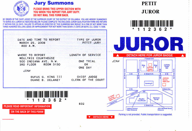 Jury duty failure to appear california