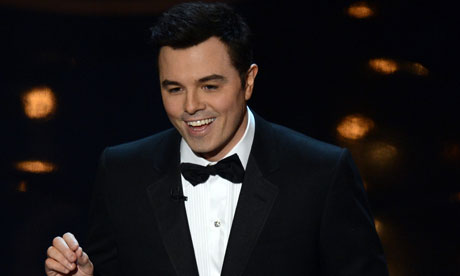 Seth MacFarlane speaks onstage during the Oscars held at the Dolby theatre