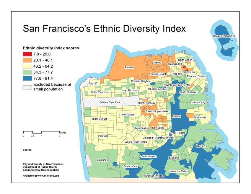 Ethnic Diversity Index 15